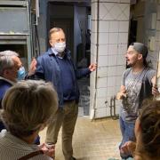 Le président de Région Xavier Bertrand visite le chantier du futur restaurant de Camille Delcroix