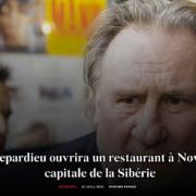 Gérard Depardieu ouvrira prochainement un restaurant en Sibérie