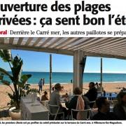 Paillotes de plage … La saison 2016 s'ouvre avec l'arrivée du Printemps