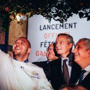 Top Départ ce matin pour la Fête de la Gastronomie au Marché de Rungis en présence de Bruno Le Maire