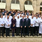 Les chefs qui étaient présents à l'Élysée pour la Présentation de LA LISTE cette après-midi