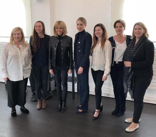 Brigitte Macron A La Rencontre Des Etudiants De Ferrandi Dejeuner