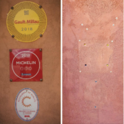 Mais qui a dérobé les plaques de la façade du restaurant du chef Christophe Bacquié ?