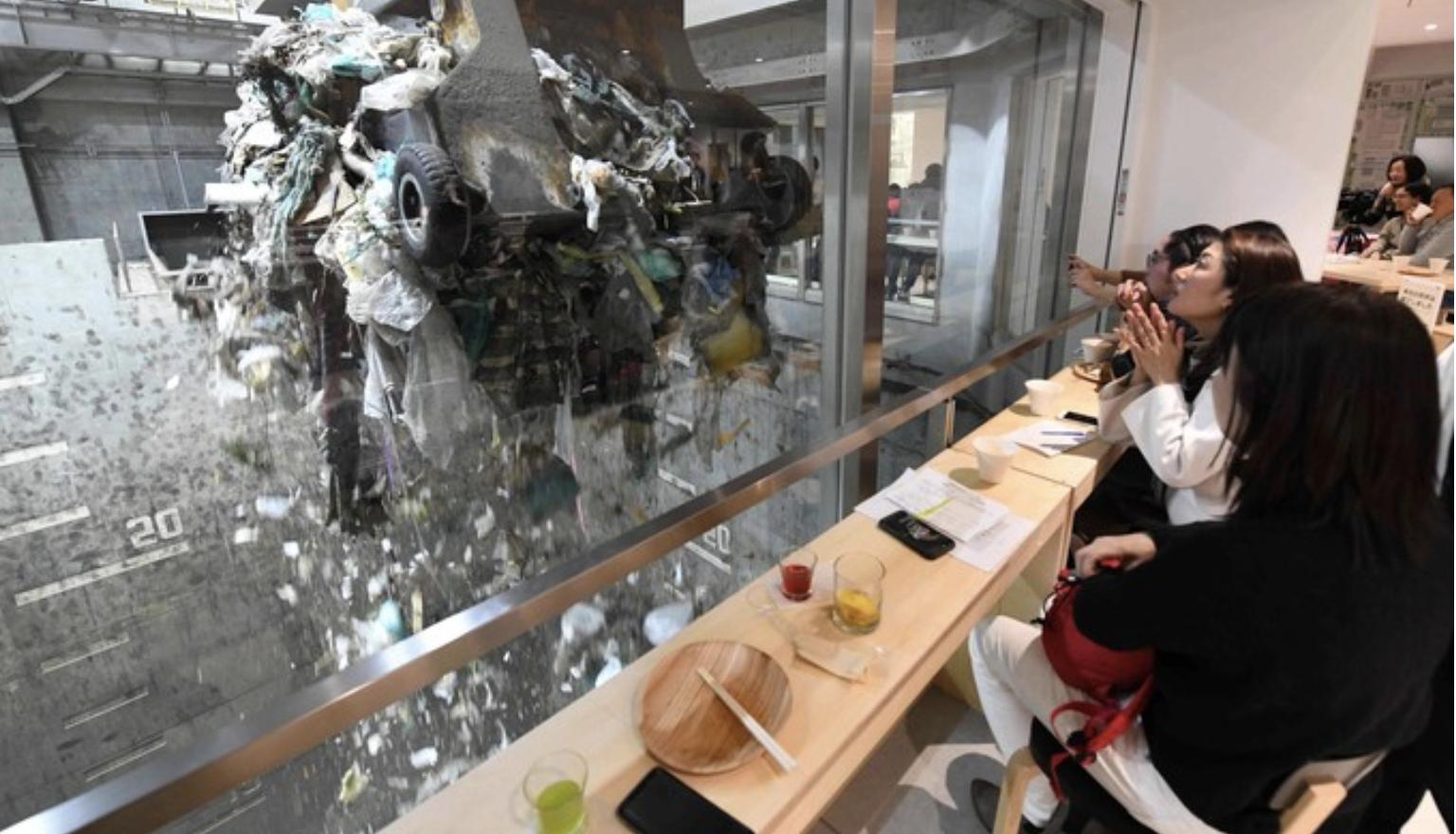 restaurant insolite tokyo dechets