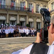 Marc Haeberlin et 30 chefs réunis dans les jardins de la Résidence de l'Ambassadeur des États-Unis à Paris