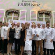 Sandrine Kauffer fête les 10 ans desNouvelles Gastronomiques et la sortie du Magazine Good'Alsace avec un dîner à 4 mains exceptionnel Marc Haeberlin et Julien Binz !