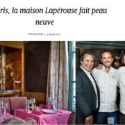 Le restaurant Lapérouse arbore une nouvelle mise en scène avec dans les coulisses Jean-Pierre Vigato et Christophe Michalak
