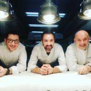 Le chef Pierre Augé cuisine aux 20è Décades Gastronomiques chez Bernard Bach au Puy Saint-Jacques