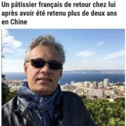 Le chef pâtissier emprisonné pendant plusieurs mois en Chine a enfin pu rejoindre la France
