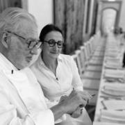 Pierre Gagnaire et Anne-Sophie Pic cuisinaient hier soir pour la 5ème » Tablée de Côte Rôtie » au Château d'Ampuis