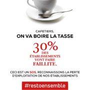 Sauvons les Cafés avec #restoensemble
