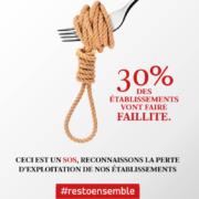 Et si c'était la fin…  Le collectif #restoensemble lance une campagne de pub coup de poing  pour alerter sur l'avenir des métiers de l'hôtellerie et de la restauration
