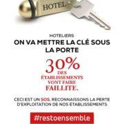 Sauvons les Hôtels avec #restoensemble