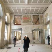Les travaux du futur restaurant du chef Jean-François Piège à l'Hôtel de La Marine avancent