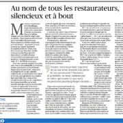 Une quinzaine de grands noms de la gastronomie pointent du doigt la menace qui pèse sur la restauration française