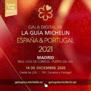 Le Palmarès du Guide Michelin Espagne/Portugal 2021 sera dévoilé en ligne le 14 décembre prochain