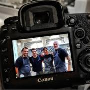 Thomas Troisgros, Alex Atala, Manu Buffara, Rafa Costa e Silva ensemble en cuisine dans le cadre d'une rencontre culinaire Gelinaz