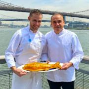 Le chef Jean-Georges Vongerichten fête les deux ans de son restaurant de fruits de Mer «The Fulton»